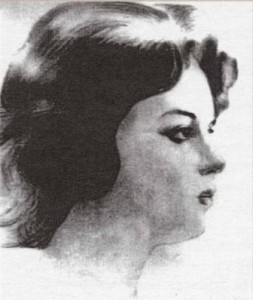 Августа Миклашевская, рисунок из книги «Прогулки для влюбленных» Ф. Пиголициной
