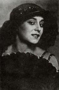 Августа Миклашевская, в шляпке с веером, год неизвестен