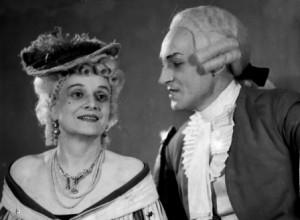 Августа Миклашевская, с Николаем Чаплыгиным, в роли принцессы Бульонской, спектакль «Адриенна Лекуврер», Москва, предположительно 1950-1958 годы