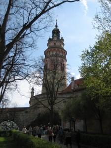 Дворцовая башня Крумловского замка