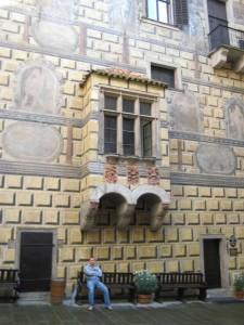 Лоджия во внутренем дворе Крумловского замка