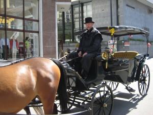 Извозчик на карлововарской улице