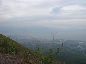 Вид на Неаполь с Везувия